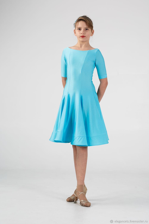"""Рейтинговое платье (Бейсик) для бальных танцев """"Bright Blue"""", Костюмы, Мариуполь, Фото №1"""