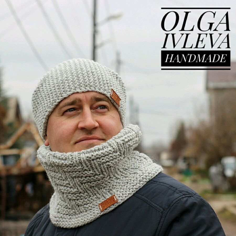 Мужской комплектШапка+Снуд, Комплекты головных уборов, Самара,  Фото №1