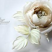Свадебный салон handmade. Livemaster - original item Cream rose Bridal Caprice. Wedding silk flowers. Handmade.
