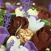 Цветы и флористика ручной работы. Ярмарка Мастеров - ручная работа Шоколад и лаванда..........букет из конфет. Handmade.