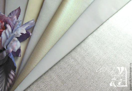 Ткань для цветов ручной работы. Ярмарка Мастеров - ручная работа. Купить Бенсируку (Бен шелк) с/к. Handmade. Белый