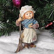 Сувениры и подарки handmade. Livemaster - original item Cotton Christmas toy Cinderella. Handmade.