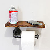 Для дома и интерьера handmade. Livemaster - original item The toilet paper holder with a shelf in the style of loft, steampunk. Handmade.