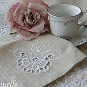 Для дома и интерьера ручной работы. Ярмарка Мастеров - ручная работа Комплект льняных салфеток Для уютного чаепития. Handmade.