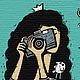 Настольные визитницы ручной работы. Набор визитных карточек «Фотографиня». Дизайн-гнездо Crowhouse. Интернет-магазин Ярмарка Мастеров. Визитки