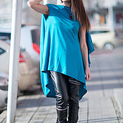 Одежда handmade. Livemaster - original item Tunic, Blue tunic, Summer tunic, Tunic top, Fashion clothing EUG. Handmade.