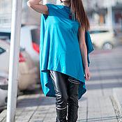 Одежда handmade. Livemaster - original item Summer, bright tunic made of cotton - TU0468TR. Handmade.