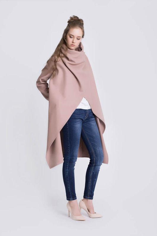 Верхняя одежда ручной работы. Ярмарка Мастеров - ручная работа. Купить Пальто-трансформер (rose). Handmade. Бледно-розовый