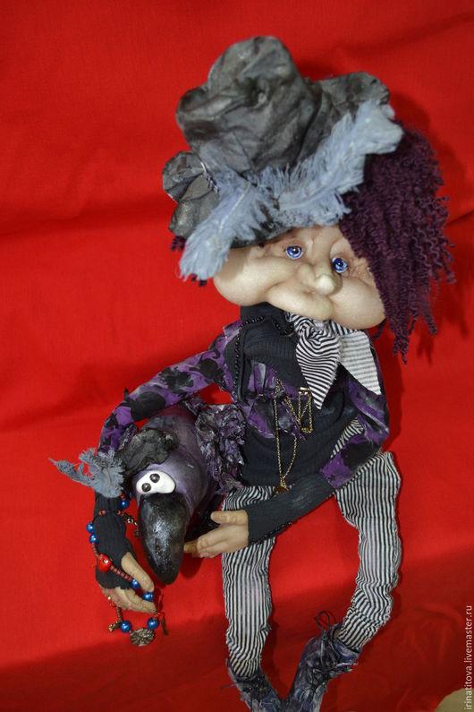 Коллекционные куклы ручной работы. Ярмарка Мастеров - ручная работа. Купить Парочка Вампиров. Handmade. Черный, подарок на любой случай