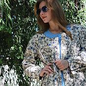 Одежда handmade. Livemaster - original item Summer boho Cape coat. len.. Handmade.