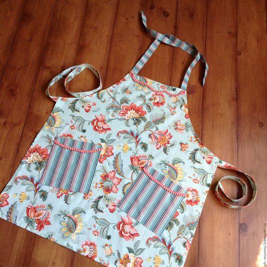 Кухня ручной работы. Ярмарка Мастеров - ручная работа. Купить Фартук с карманами. Handmade. Комбинированный, для дома и дачи
