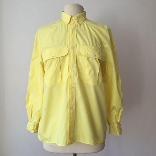 Одежда. Ярмарка Мастеров - ручная работа. Купить Лимонная рубашка CACHAREL, 1980-e годы.. Handmade. Рубашка, яркая рубашка