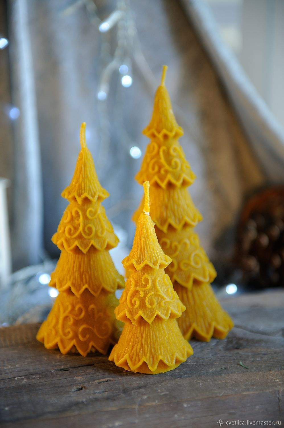 Christmas tree wax candles, height to choose from, Tree, St. Petersburg,  Фото №1
