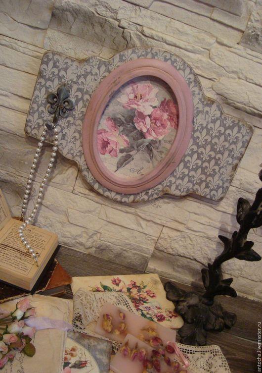 """Прихожая ручной работы. Ярмарка Мастеров - ручная работа. Купить Панно-вешалка """"Серый пепел из розовых снов"""". Handmade. Панно"""