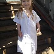 Одежда handmade. Livemaster - original item Children`s chemise shirt Lada. Handmade.