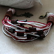 Украшения handmade. Livemaster - original item Bracelet made from linen threads