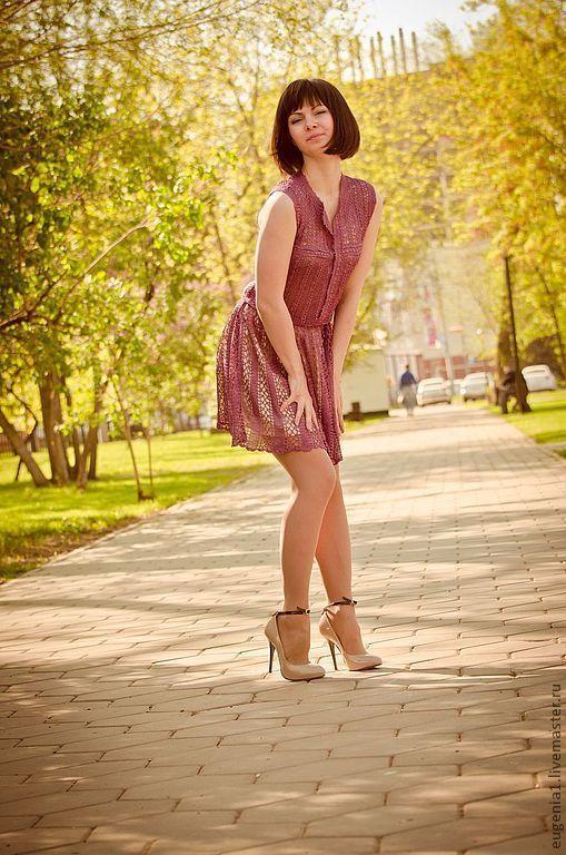 Платья ручной работы. Ярмарка Мастеров - ручная работа. Купить Шёлковое платье по мотивам.... Handmade. Сиреневый, шёлк