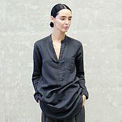 Одежда ручной работы. Ярмарка Мастеров - ручная работа Рубашка женская удлиненная Grunge. Handmade.