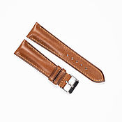 Украшения handmade. Livemaster - original item Calf Leather Watch Strap. Caramel color. Handmade.