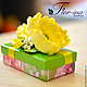 Подарочная упаковка ручной работы. Подарочная коробочка с желтыми маками.. Flor-ina handmade (Ирина). Интернет-магазин Ярмарка Мастеров.