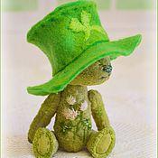 Куклы и игрушки ручной работы. Ярмарка Мастеров - ручная работа Шемрок или клеверный мишка. Handmade.