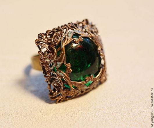 """Кольца ручной работы. Ярмарка Мастеров - ручная работа. Купить кольцо """"Волшебная флейта"""". Handmade. Винтажный стиль, латунь"""