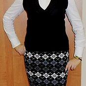 Одежда ручной работы. Ярмарка Мастеров - ручная работа юбка жаккардовая. Handmade.