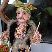 Куклы и игрушки ручной работы. Ярмарка Мастеров - ручная работа Кукла Баба-Яга мини. Handmade.