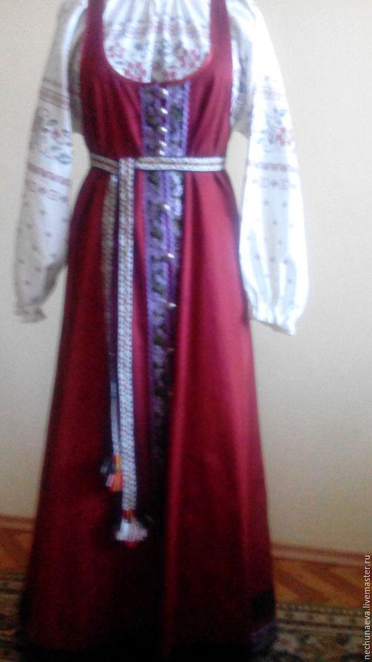 Одежда ручной работы. Ярмарка Мастеров - ручная работа. Купить русский распашной сарафан. Handmade. Ярко-красный, сарафан в пол