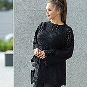 handmade. Livemaster - original item Knit pullover tunic for fans of the black. Handmade.
