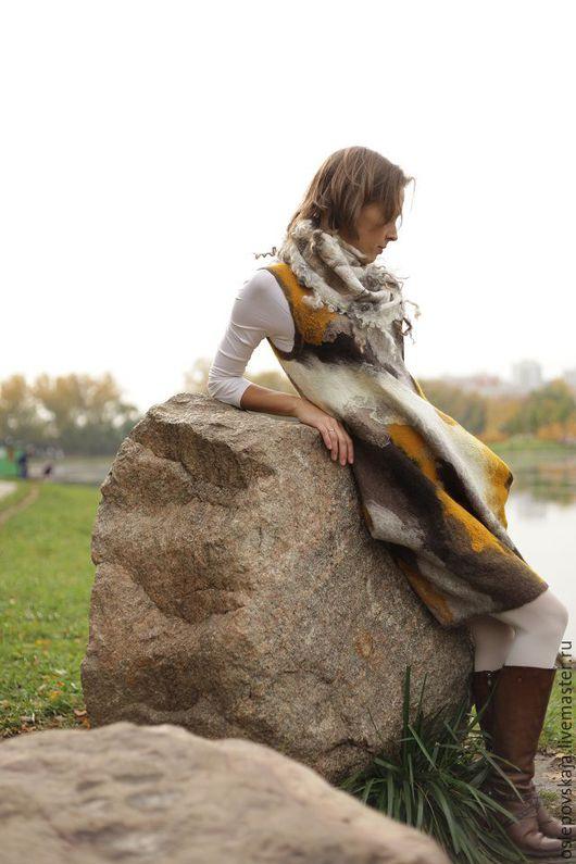 valyanoye-plat`ye, валяное бохо платье, войлочны сарафан, 640X960