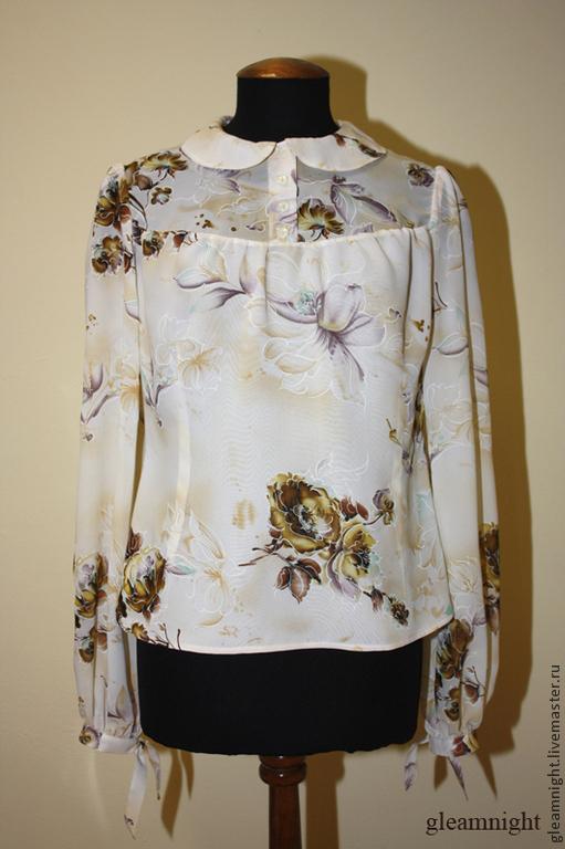 Шифоновая ретро-блузка