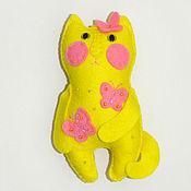 Куклы и игрушки ручной работы. Ярмарка Мастеров - ручная работа Кошка Июлька, интерьерная игрушка из фетра.Оригинальный сувенир. Handmade.