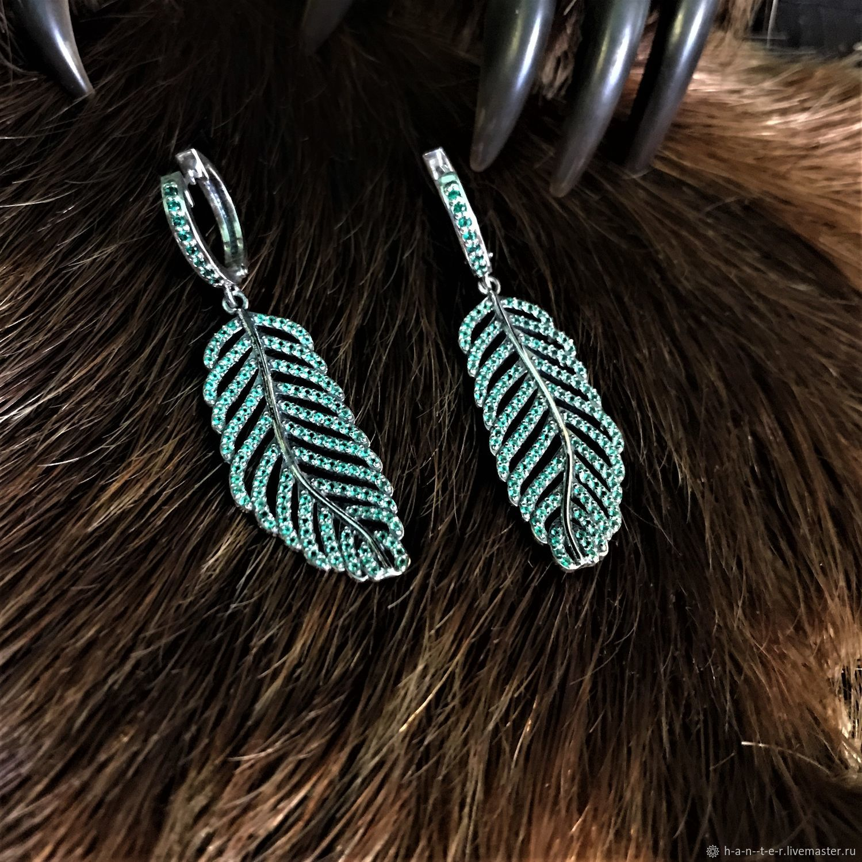 Fern leaf earrings, Folk decorations, Kostroma,  Фото №1
