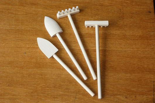 Развивающие игрушки ручной работы. Ярмарка Мастеров - ручная работа. Купить Грабли, лопатка. Handmade. Бежевый, грабли, кукольная миниатюра