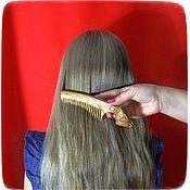 Сувениры и подарки handmade. Livemaster - original item Wooden hair comb WOLF. Handmade.