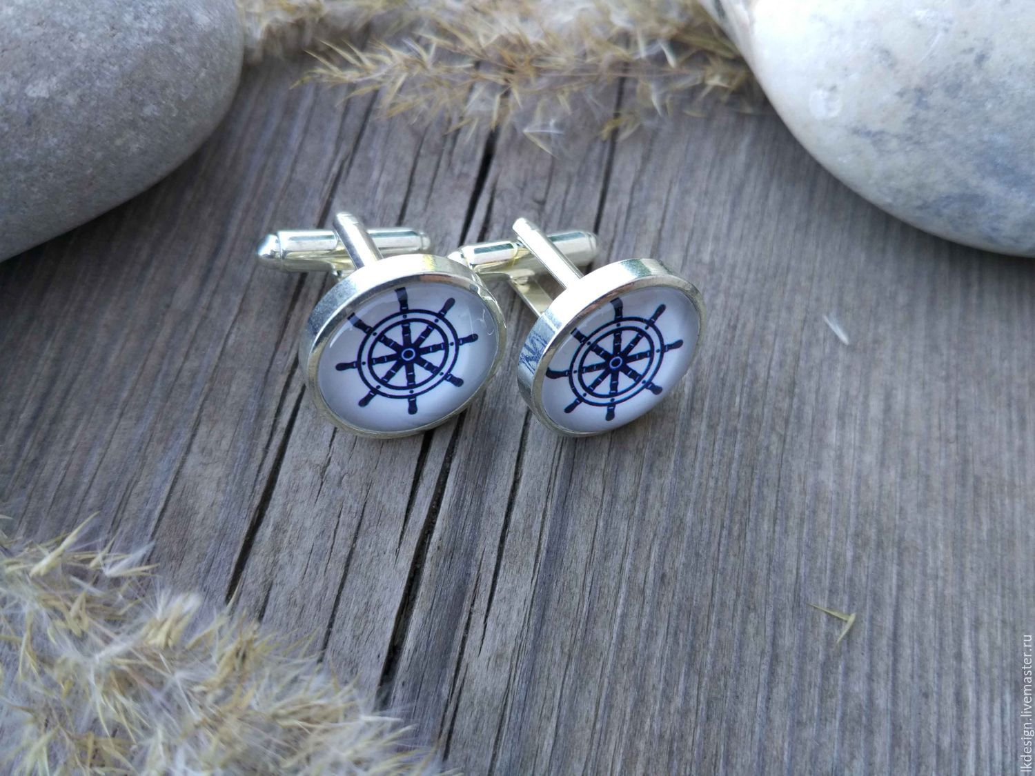 Cufflinks silver plated Helm (large), Cuff Links, Moscow,  Фото №1