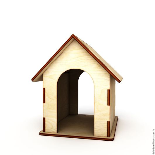 Куклы и игрушки ручной работы. Ярмарка Мастеров - ручная работа. Купить КД-20-0016 Будка для собачки сотверстиями с 2ух сторон. Handmade.