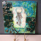 """Картины и панно ручной работы. Ярмарка Мастеров - ручная работа Панно- ключница """"Ключи"""". Handmade."""