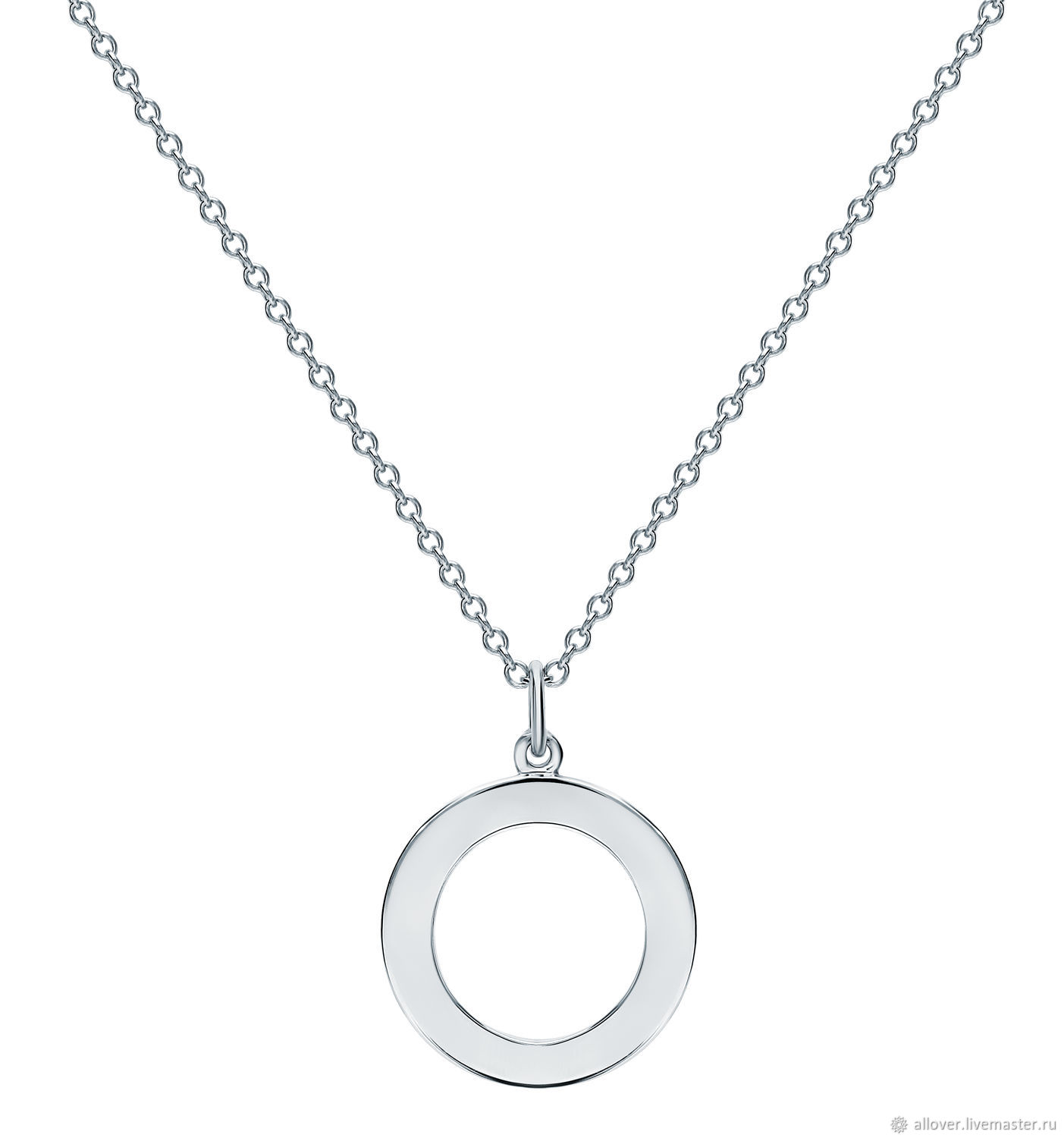 Pendant glossy geometry circle 925 sterling silver, Necklace, Moscow,  Фото №1
