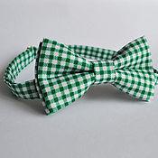 Аксессуары handmade. Livemaster - original item Tie Nuance / bow tie green white checks, Vichy. Handmade.