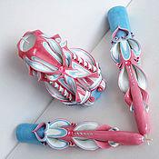 Свадебный салон handmade. Livemaster - original item Wedding candles - pink and blue coral - family home. Handmade.