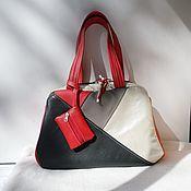 Сумки и аксессуары handmade. Livemaster - original item Leather double-sided bag to order.. Handmade.