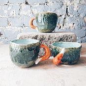 Посуда ручной работы. Ярмарка Мастеров - ручная работа Скидка - кружки с лисьими хвостами №2. Handmade.