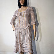 handmade. Livemaster - original item Silk Crochet Dress. Handmade.