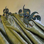 Для дома и интерьера handmade. Livemaster - original item Curtain holders forged. Handmade.