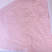 Для дома и интерьера ручной работы. Ярмарка Мастеров - ручная работа Стёганое одеяло с монограммой. Handmade.