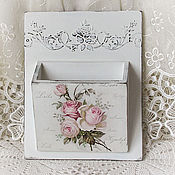 Для дома и интерьера handmade. Livemaster - original item Box pocket shabby chic for small