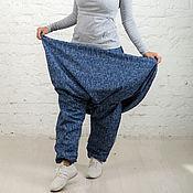 """Юбки ручной работы. Ярмарка Мастеров - ручная работа Юбка - штаны зимняя """"джинс"""". Handmade."""