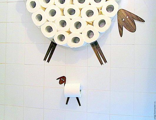Полка для хранения туалетной бумаги - Овца и Держатель рулона - Ягнёнок